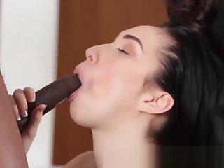 Teen spermed by black rod