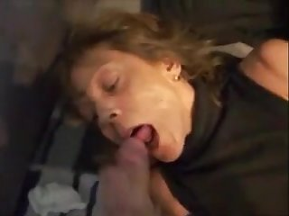 Mature get hitched handjob on bed increased by cum in mouth