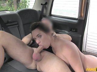 Bitch sucks the cock until sperm facializes her
