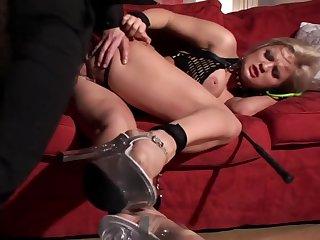 Bound anal fuck