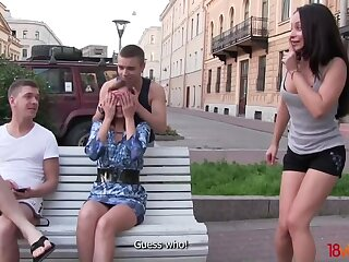 Double dates dissimulate into foursome real quick in Mother Russia