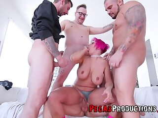 Big Chick takes on 4 Canadian Dick