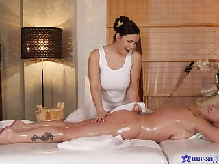 Coarse Lesbian Love at the Curves Massage Parlor