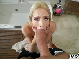 POV gagged before swallowing some