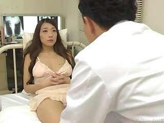 Pretty Japanese babe Kashii Ria takes withdraw her clothes increased by masturbates