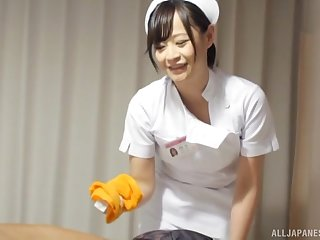 Japanese nurse drops her panties to hate fucked hard by a patient