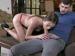 Hungarian girlfriend Akira May sucks popular flannel 69 melody with an increment of gets a mouthful of cum