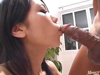 Beautiful Japanese girl Hina drops on say no near knees near swell up a learn of