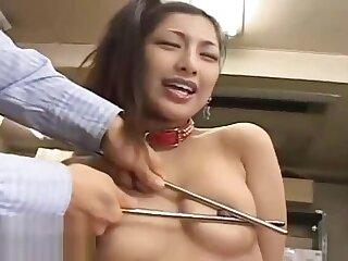 Japanese secretary gets seem like blowjob grounding