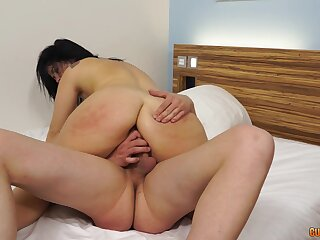 Monumental cock for hammer away spanked Asian lady in scenes of amateur porn