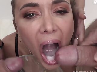 Venera Maxima swallows 98 elephantine mouthful cumshots