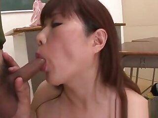 Slut milf deepthroats horseshit and balls