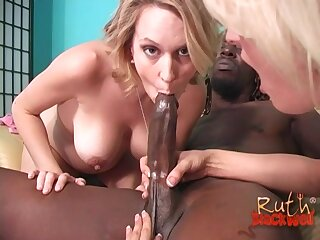 Black dude with a giant dick fucks Evil days Blackwell with an increment of Sindy Lange
