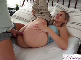 Blonde babe with big boobs is fucking her step- brother, instead be advantageous to his make obsolete plus enjoying it