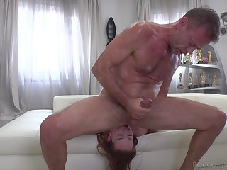 Redhead with glasses Candy Red likes to get fucked kinky