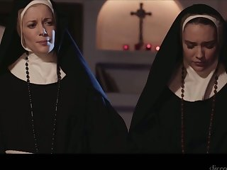 Libidinous and sinful nuns can't stop eating each others yummy pussies