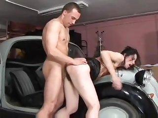 Tied Slave Slut Being Used In A Fruit Fetish Vid