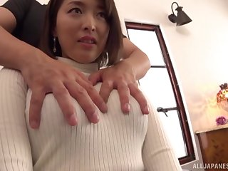 after fingering Shinozaki Kanna can't brandish to jump chiefly a strong dick