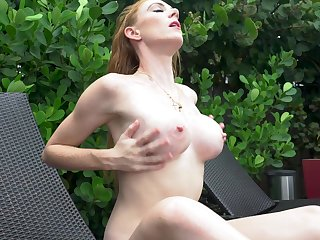 A Touch Of Red - ginger busty babe solo
