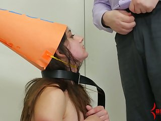 A hoe has to drink her master's pee and she is ergo fucking tamed