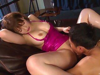 Hot Asian porn in insane hardcore for Honda Riko