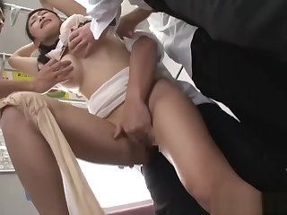Japanese MILF Reiko Kobayakawa abused in a restore b persuade train