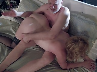 Grown-up big slutty housewife Marlene Riggs gives quite a tangible blowjob