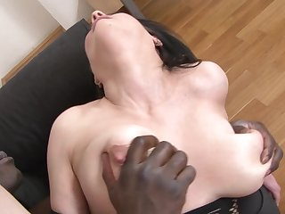 Hardcore interracial fuck be proper of mature with chunky tits