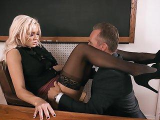 Headmaster enjoys fucking anal space of smoking hot teacher Kenzie Taylor