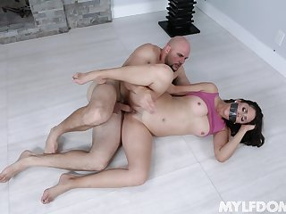 Gagged cougar MILF fucked merciless wits guy with monster learn of