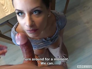 Czech femmes were deepthroating sausages in front of an obstacle camera, because many of them needed cash