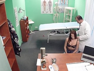 Oversexed doctor seduced and fucked his patient Angella from behind