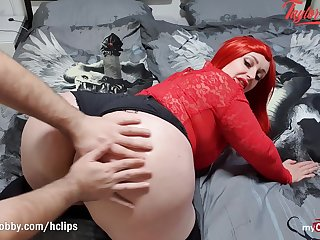 MyDirtyHobby - BBW redhead Taylor Burton oiled with the addition of fucked