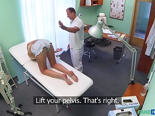 Miasmic doctor persuades his anyway a lest Katy that she needs to be fucked