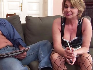 Rough shafting between a horny clothes-horse and anal tender Kristina Vrga