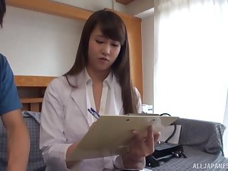 Amateur video of a prexy Japanese wife majuscule a titjob and riding