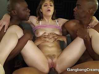 Rebecca Vanguard interracial porn - gangbang video
