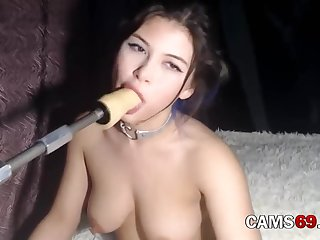 Russian Babyface Deepthroat Training on Webcam XXX
