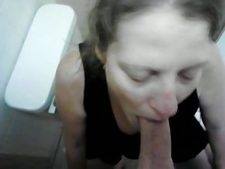 This slut is not enthusiastic down sucking that cock in stance of the camera
