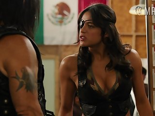 Michelle Rodriguez shows not present her flat tummy and sexy breaking helter-skelter Machete kills